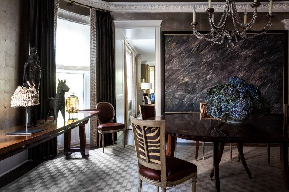 Chicago designer Tom Stringer Chicago home dining room