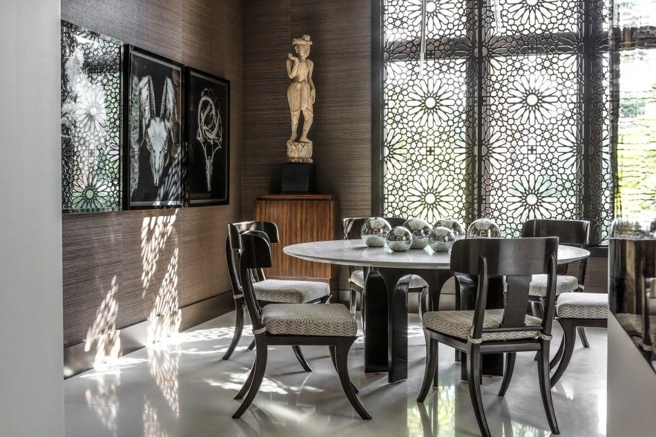 Chicago designer Tom Stringer South Florida home dining room