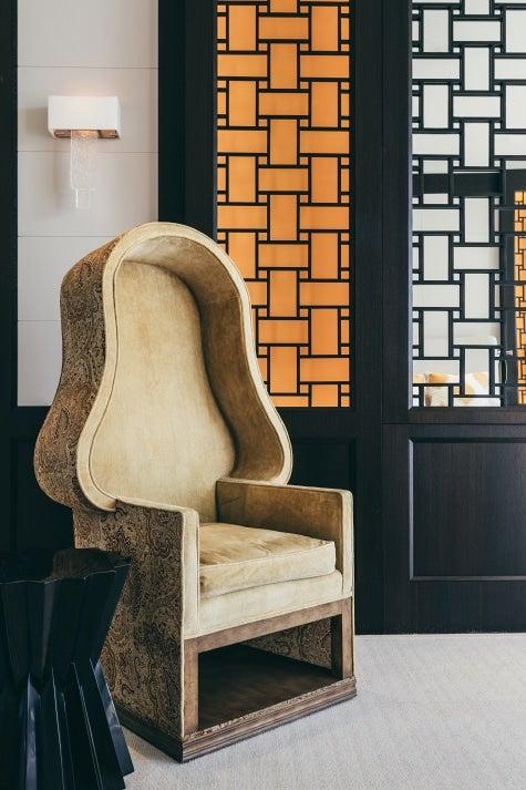 Chicago designer Tom Stringer South Florida home master bedroom