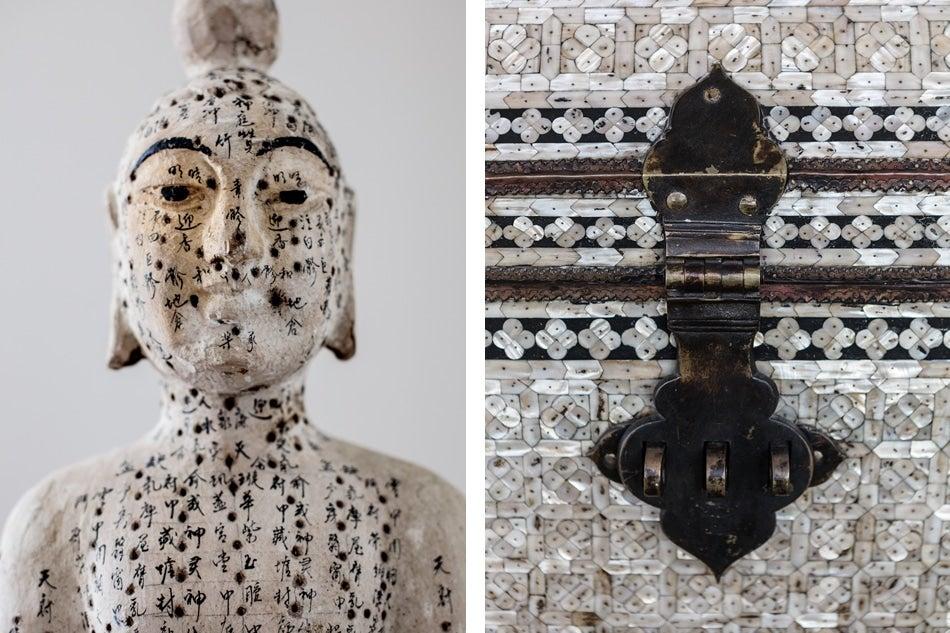 Chicago designer Tom Stringer Asian sculpture Syrian chest