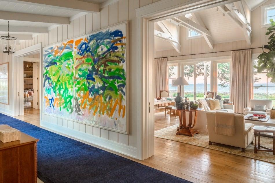 Chicago designer Tom Stringer South Florida home hallway