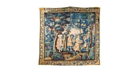 Baroque Flemish tapestry, late 17th century