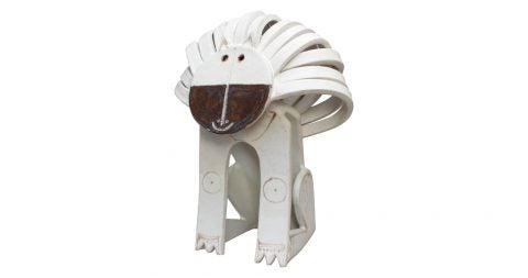 Bruno Gambone ceramic lion sculpture, 1970s, offered by Bureau of Interior Affairs