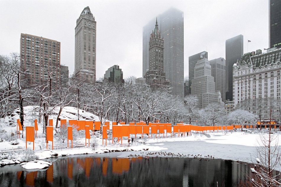 Artists Christo and Jeanne-Claude New York City The Gates