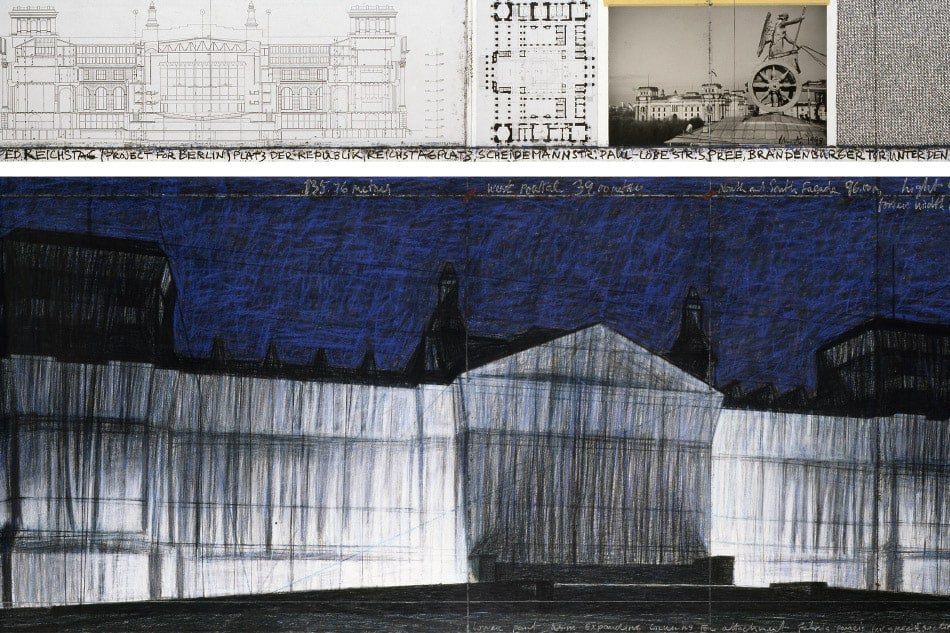 Artists Christo and Jeanne-Claude Berlin Reichstag