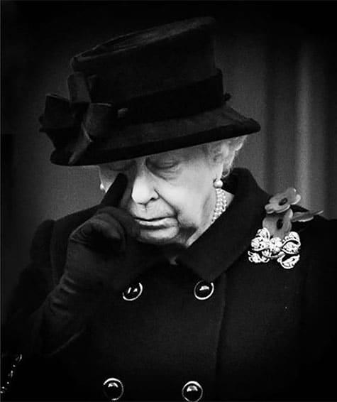 Queen Elizabeth II Remembrance Day Tear British royal photographer Samir Hussein