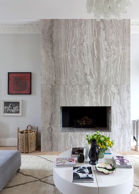 London living room fireplace by Suzy Hoodless