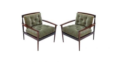 Rino Levi jacaranda armchairs, 1960s