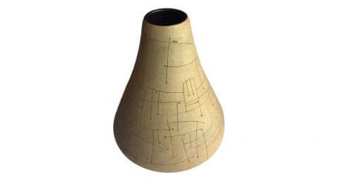 Gustavo Pérez stoneware vessel, 1992, offered by Trouvé
