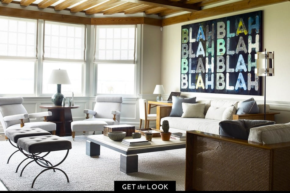 David Kleinberg Designs A Warm And Modern Manhattan Apartment Manhattan Designers Blah Blah Blah, 2016, By Mel Bochner