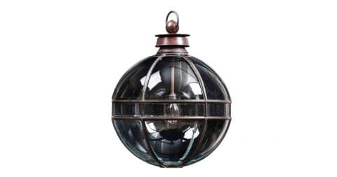 Mercury-glazed lantern, new