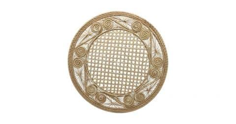 Handwoven iraca-fiber place mats, 21st century