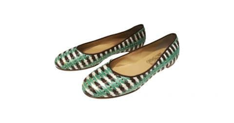 Salvatore Ferragamo raffia ballet flats, 21st century, offered by Wonderland Capri