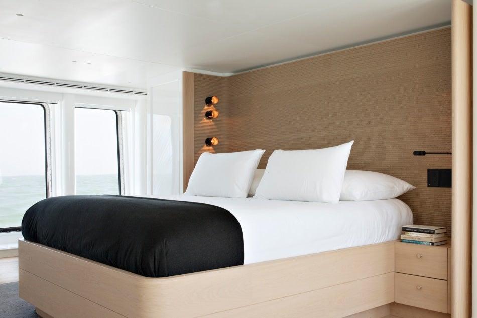 Belgian designer Vincent Van Duysen yacht RH3 master cabin