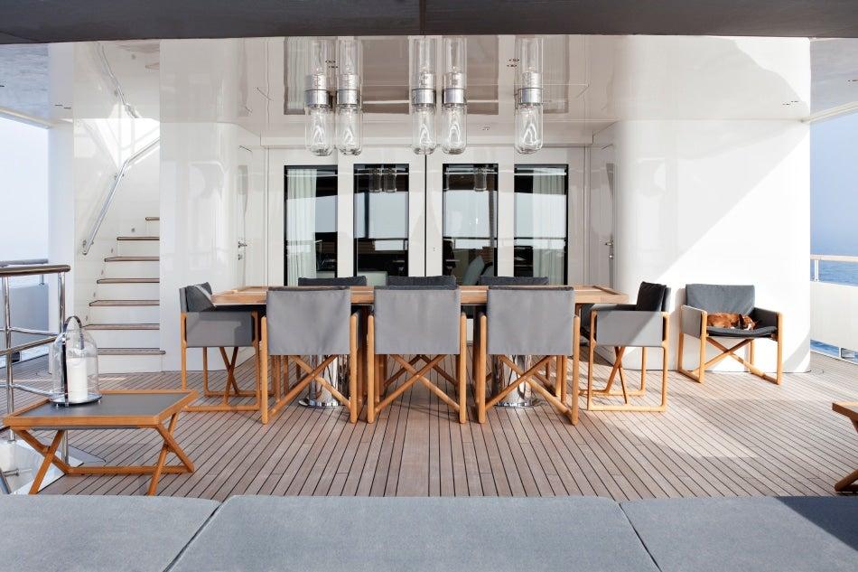 Belgian designer Vincent Van Duysen yacht RH3 dining