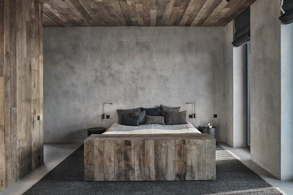 Belgian designer Vincent Van Duysen Antwerp Belgium penthouse master bedroom