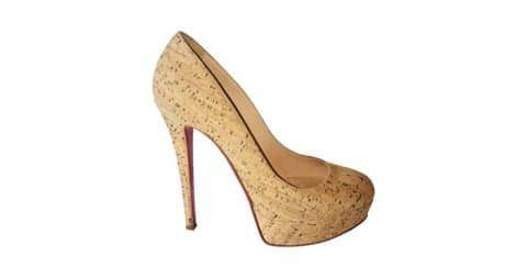 Christian Louboutin cork heels, 21st century, offered by Collette