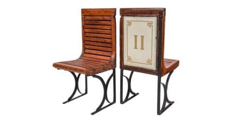 Second-class Paris Métro chairs, 1920s