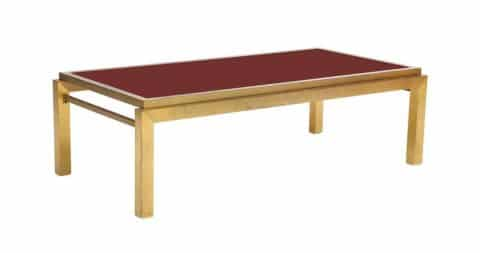 Coffee table attributed to Maison Jansen, 1980s, offered by This Place