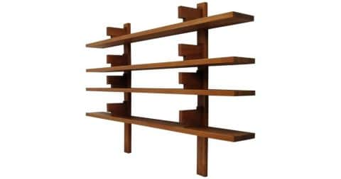 Pierre Chapo Model B 17A wall-mounted shelves, 1960s, offered by Histoire Gallery