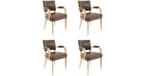 Card table chairs, 1940s, offered by Newel