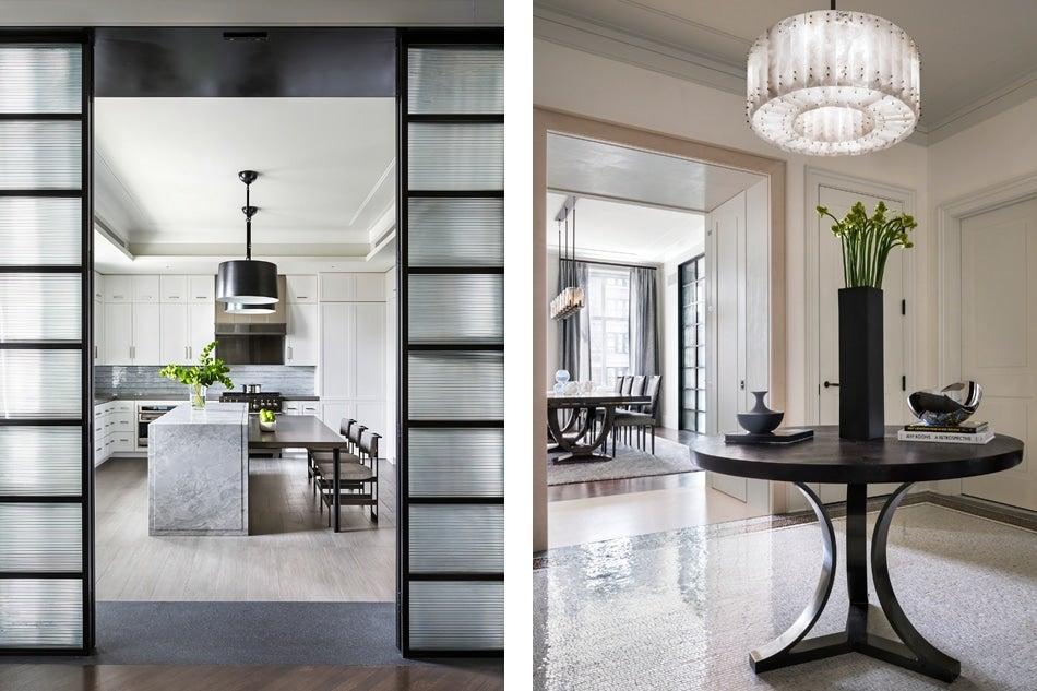 Architect Jean-Gabriel Neukomm JG Neukomm Architecture New York City Apthorp kitchen and foyer