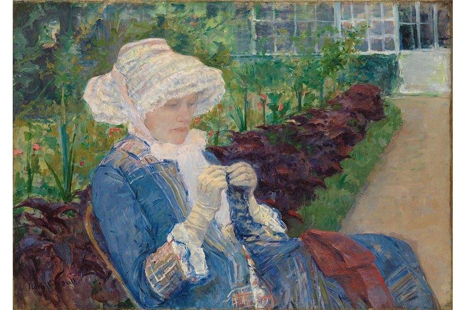 Mary Cassatt Lydia Crocheting in the Garden at Marly Public Parks, Private Gardens: Paris to Provence French France Metropolitan Museum of Art New York
