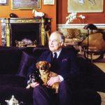 Henri Samuel with dog