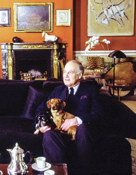 Henri Samuel with two dachshunds