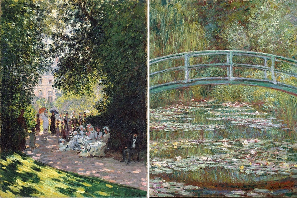 Claude Monet The Parc Monceau and Bridge over a Pond of Water Lilies Public Parks, Private Gardens: Paris to Provence French France Metropolitan Museum of Art New York