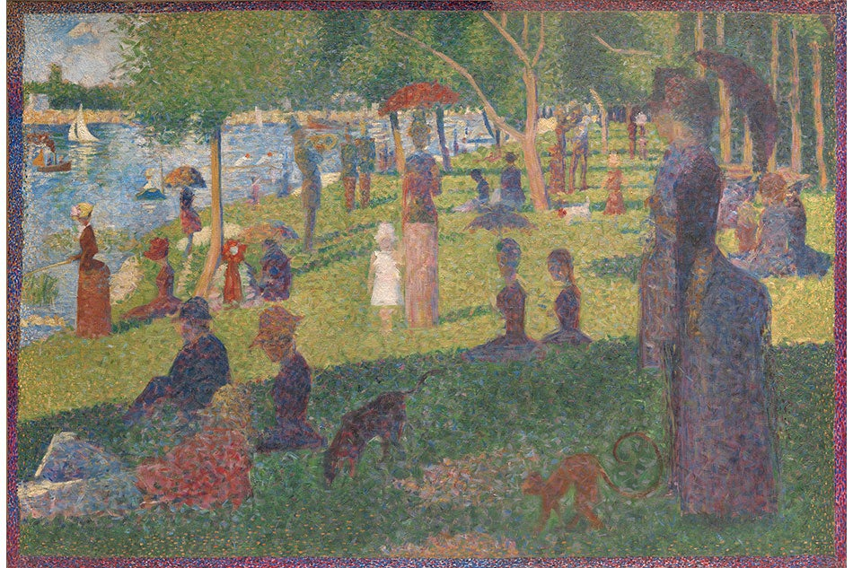 Georges Seurat A Sunday on La Grande Jatte Public Parks, Private Gardens: Paris to Provence French France Metropolitan Museum of Art New York