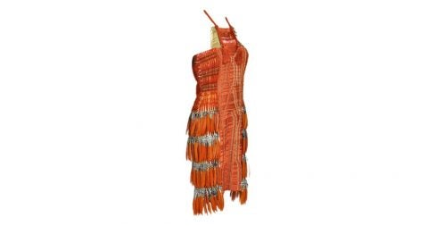 Gucci embroidered dress with feathers, 21st century, offered by Exquisite Finds