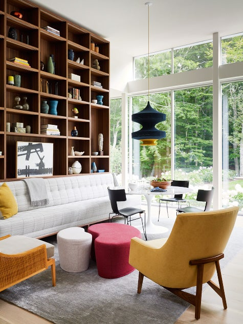 East Hampton family room by David Scott