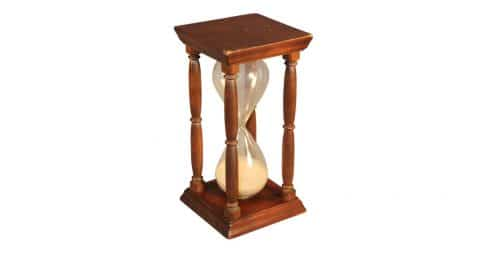 American hourglass, ca. 1870, offered by Stiles House Antiques