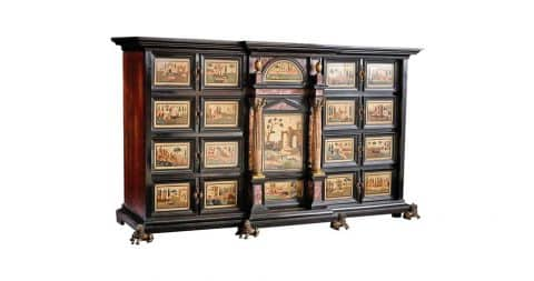 Florentine <i>pietra dura</i> cabinet, ca. 1620, offered by Brans Antiques & Art