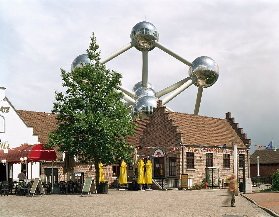 "Jade Doskow, Brussels 1958 World's Fair, ""A World View: A New Humanism,"" Atomium, 2007"