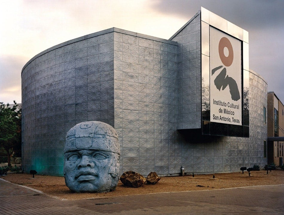 "Jade Doskow, San Antonio 1968 World's Fair, ""The Confluence of Civilizations in the Americas,""Instituto Cultural De México with Olmec Head, 2013"