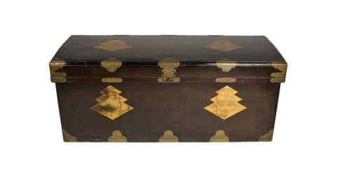 Japanese lacquer chest, 19th century, offered by Helga Horner Inc.
