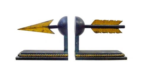 Arrow bookends, 1950s, offered by BG Galleries