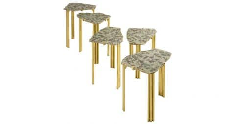 Set of five Taher Chemirik Pathway tables, 2016, offered by Galerie BSL