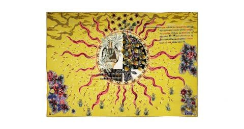 Jean Lurçat Aubusson tapestry, ca. 1960, offered by Galerie Deroyan