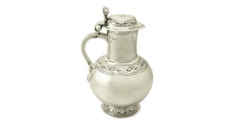 Carrington & Co. Britannia-standard silver flagon, 1904, offered by AC Silver