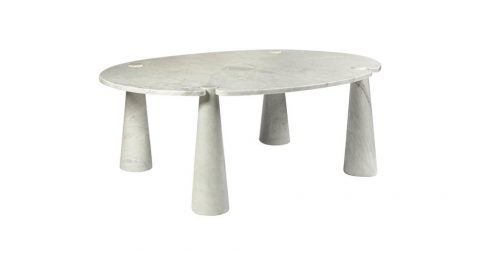Angelo Mangiarotti marble dining table, 1971, offered by Galerie Yves Gastou