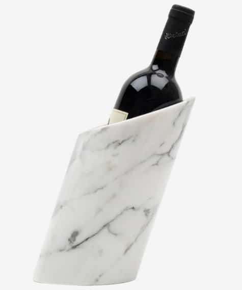 Fiammetta V. Carrara marble bottle holder