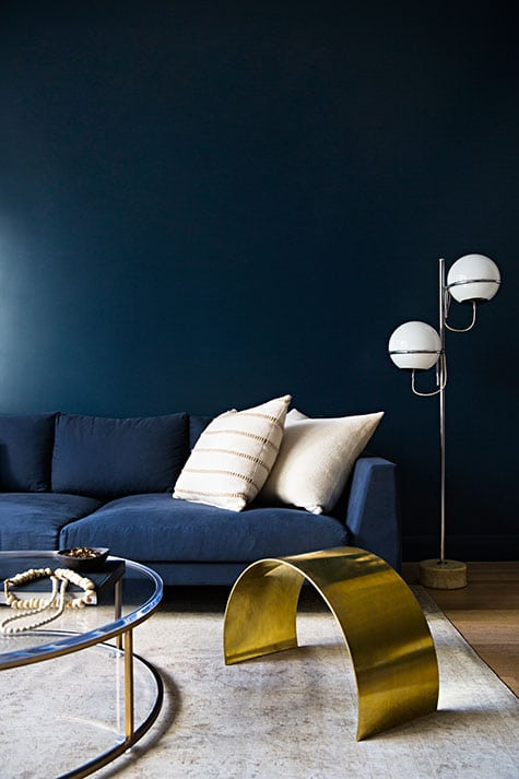 blue living room by Jeremiah Brent