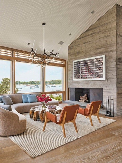 Woods Hole, Massachusetts, living room by Leroy Street Studio