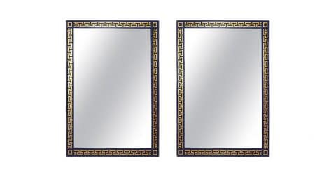 Greek-key mirrors, 2000s, offered by Newell