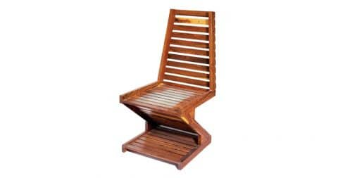 Don S. Shoemaker zigzag cocobolo-wood chair, 1981, offered by Tishu