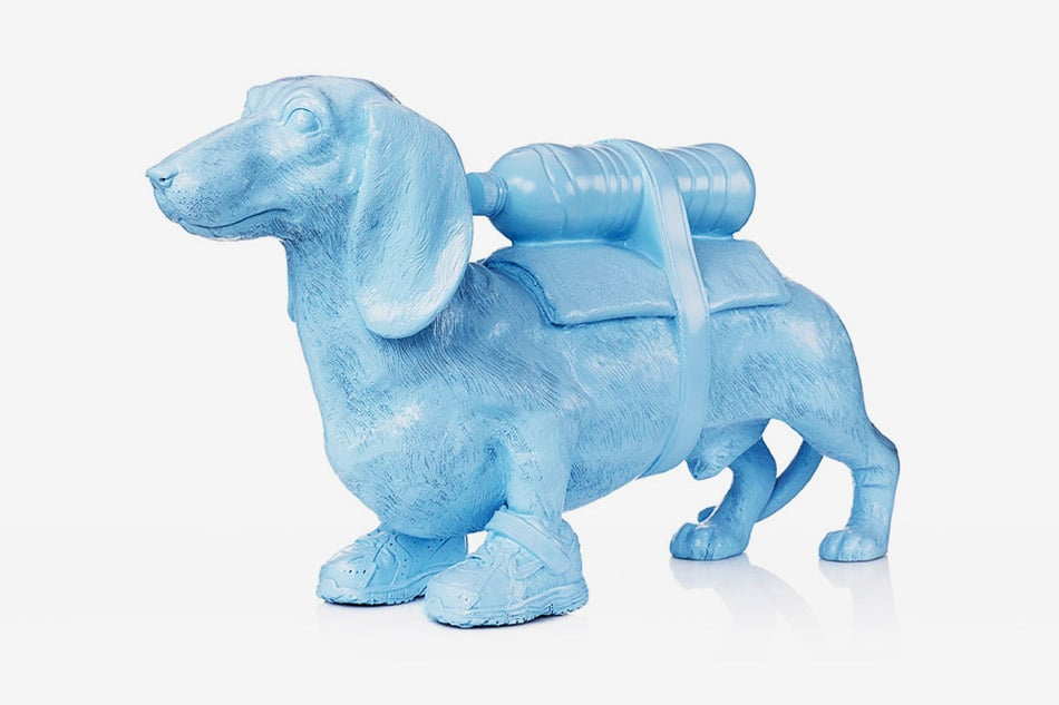 William Sweetlove, Cloned Dachshund with pet bottle, 2011