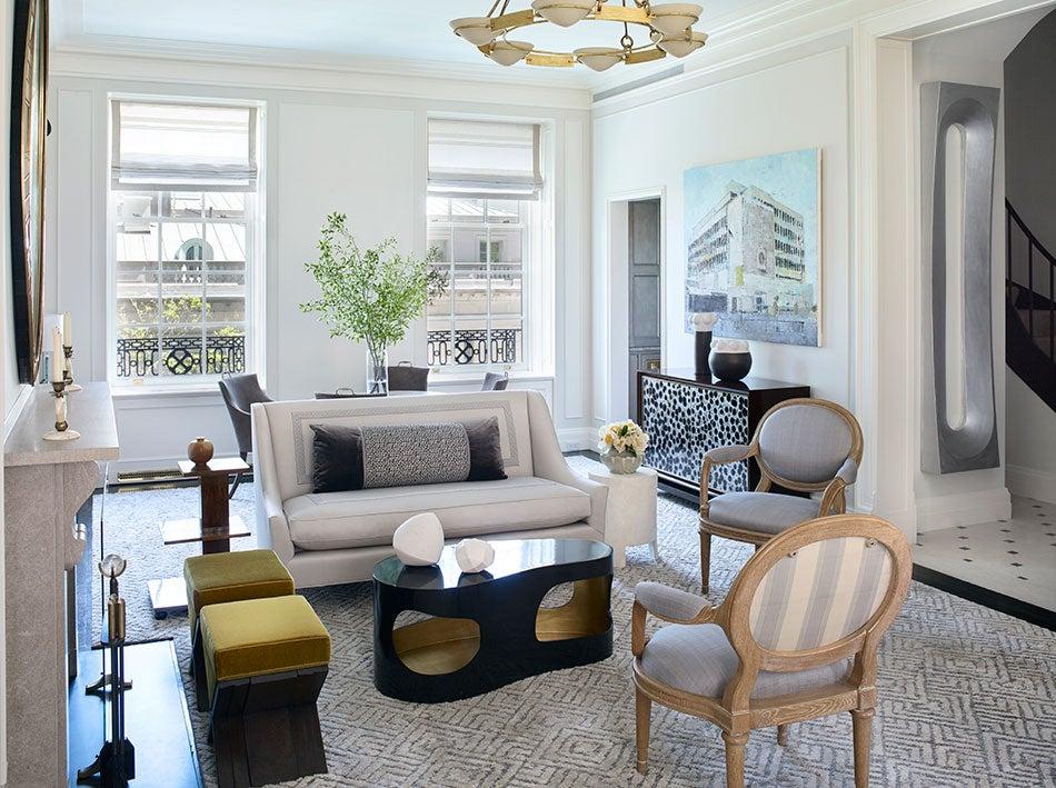 A living room by David Kleinberg Design Associates